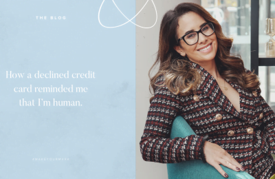 How a declined credit card reminded me that I'm human.